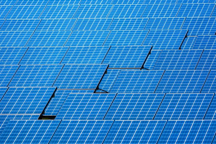 Full frame shot of solar panel