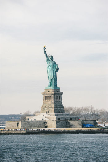 New York New York City NYC Architecture City Travel Tourism Statue Of Liberty Sky Statue Human Representation Female Likeness Sculpture Travel Destinations Water Representation Freedom Day Waterfront No People The Past Nature Built Structure