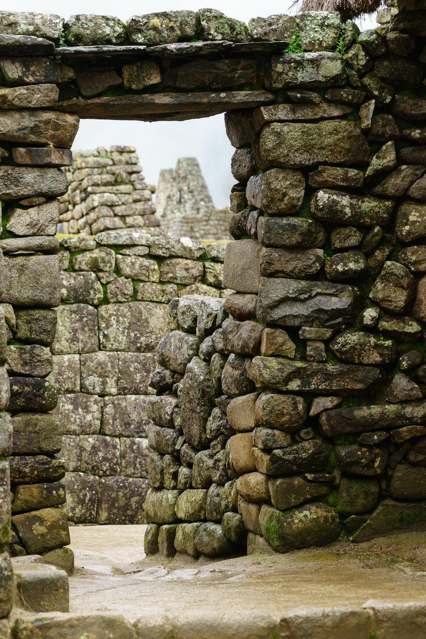 Stone Wall At Machu Picchu