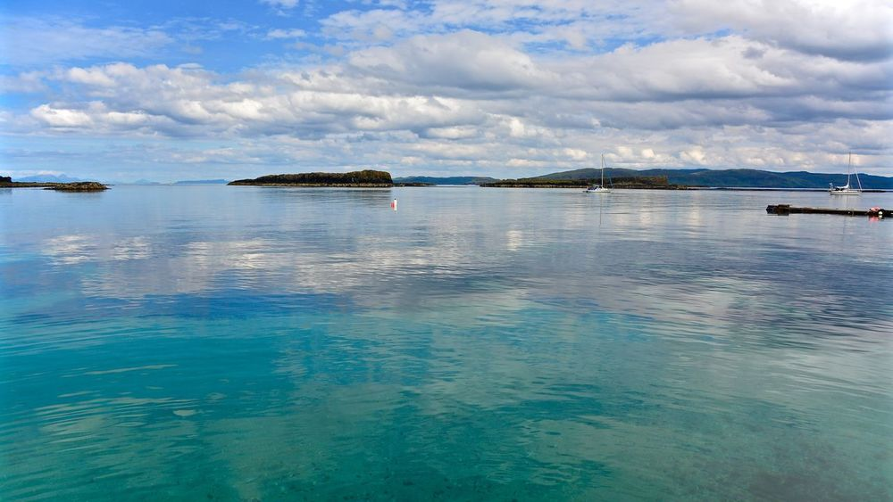 Beauty In Nature Blue Cloud Cloud - Sky Cloudy Horizon Over Water Idyllic Islands Lungarno Nature Reflection Scenics Scotland Sea Sky Tranquil Scene Tranquility Water