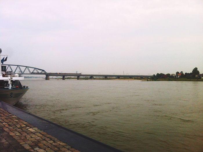 Landscape Waalbrug Nijmegen Nederland Netherlands Nijmegen