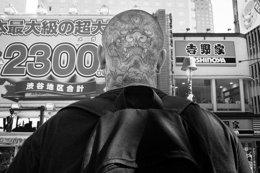Tattoo-Shibuya, Tokyo, Japan, 2018 Blackandwhite Streetphotography The Street Photographer - 2018 EyeEm Awards