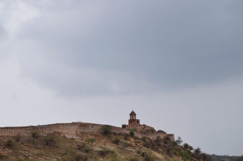 View of historic building against cloudy sky