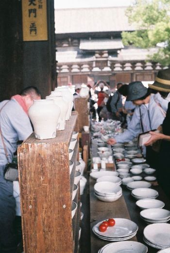 Toji Temple Antiques Market Kyoto Japan Vintage Camera Filmcamera Fujifilm Film Photography Olympus Pen S People