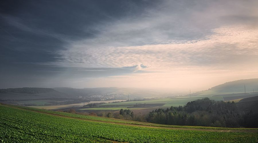Tauber Valley Beauty In Nature Landscape Environment Scenics - Nature Sky Rural Scene Land Cloud - Sky Field Tranquility Tranquil Scene Agriculture Nature No People Grass Idyllic Outdoors Taubertal Tauber Valley Landschaft Himmel Und Wolken Himmel Wolken