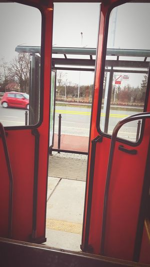 Open Doors  First Eyeem Photo Love It ❤ Gdańsk 👌🏼 Comunication Tram Orange Color Poland 💗 Journey Everyday Life Let Your Dreams Come True