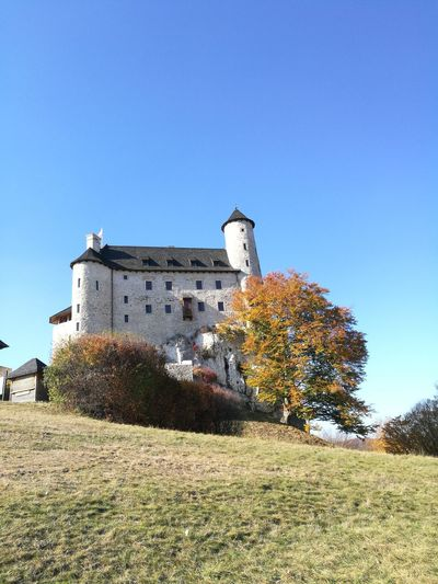 Castle Bobolice Castle Castle Hill Clear Sky Blue Sunny Sky Architecture Building Exterior Built Structure Medieval Fortified Wall Fortress