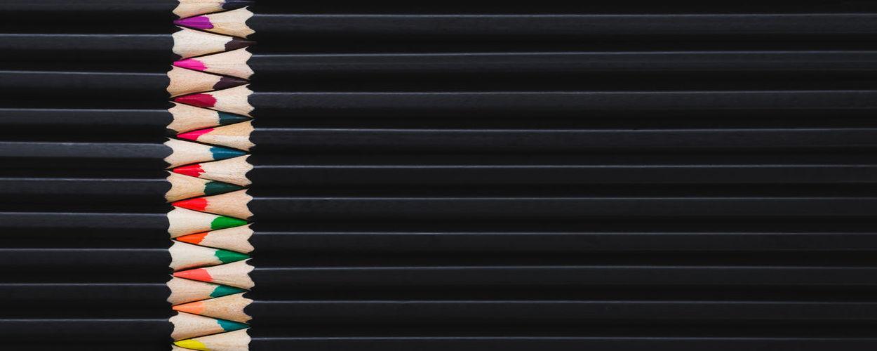Full frame shot of multi colored blinds