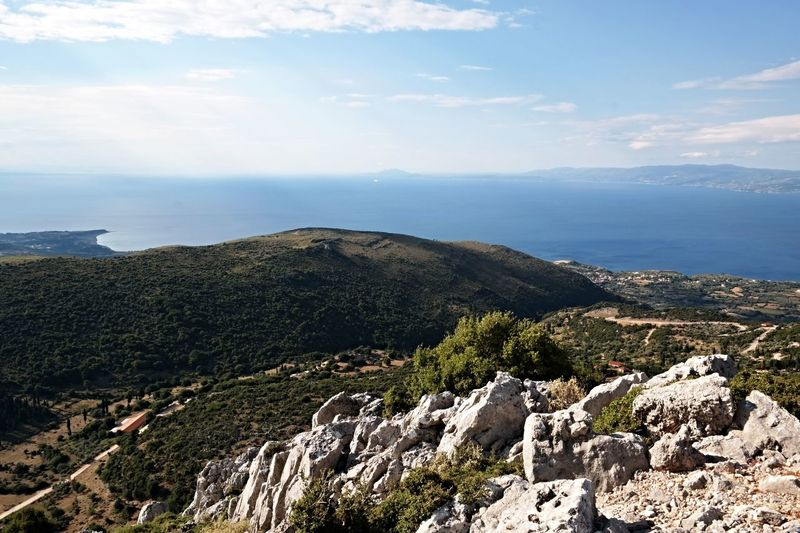 Greek Islands Hiking Mediterranean Sea Stunning Scenery Beauty In Nature Cliff Day Great Landscape Landscape Mountain Mountain Range Nature No People Outdoors Scenics Sea Sky Tranquil Scene Tranquility Water Perspectives On Nature