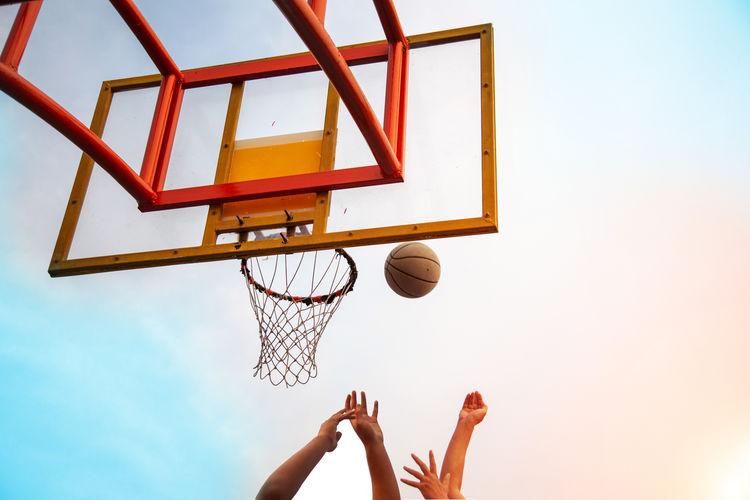 Basketball Competition Playing Shootermag Rebound Game Block Basket Board Netherlands colour of life Lifestyles Morning Sport Bang Shot Shoot Ball Sky Fun
