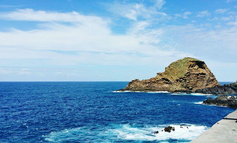 Samsung Galaxy Note 3 Freedom Ocean View Rocks Volcanic Island Madeira Island Nature Sun Mountain View Beutiful :) Wellcome Sky World Porto Moniz Madeira