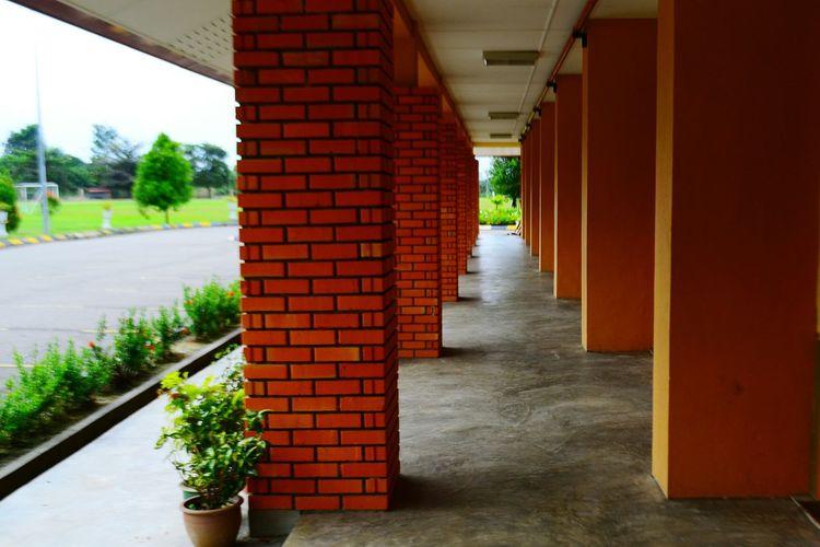 View of corridor of building