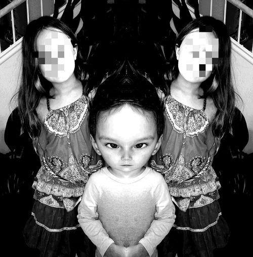 Surrealism Monochrome Black And White Children's Portraits