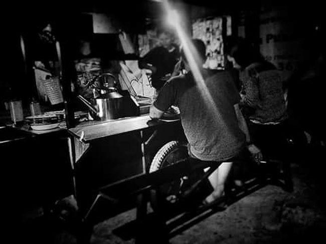 Blackandwhite Photography Nightlife Couplesphotography Eat Angkringan INDONESIA
