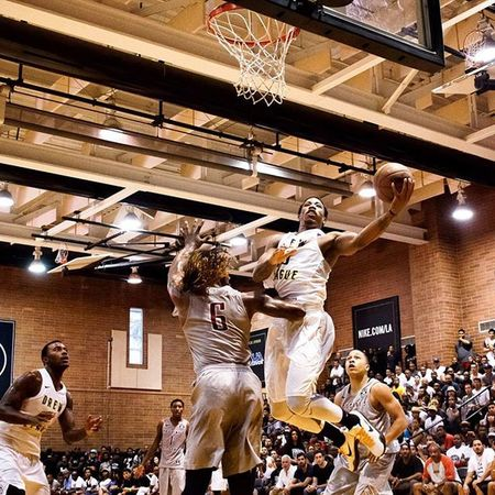 Compton's own @demar_derozan showing off for the hometown crowd. Thedrew BasketBallneverStops Hoopdreams MHP NBA demarderozan straightouttacompton torontoraptors
