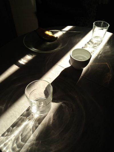 Glass Blink Sunbeam Shadow Morning Breakfast Light Drink Tea - Hot Drink Shadow Table Close-up Food And Drink