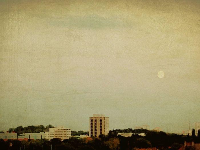 Urban Geometry The View From My Window I ❤ BERLIN Full Moon