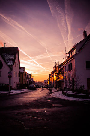 Architecture Building Exterior Built Structure City Day No People Outdoors Road Sky Street Sunset