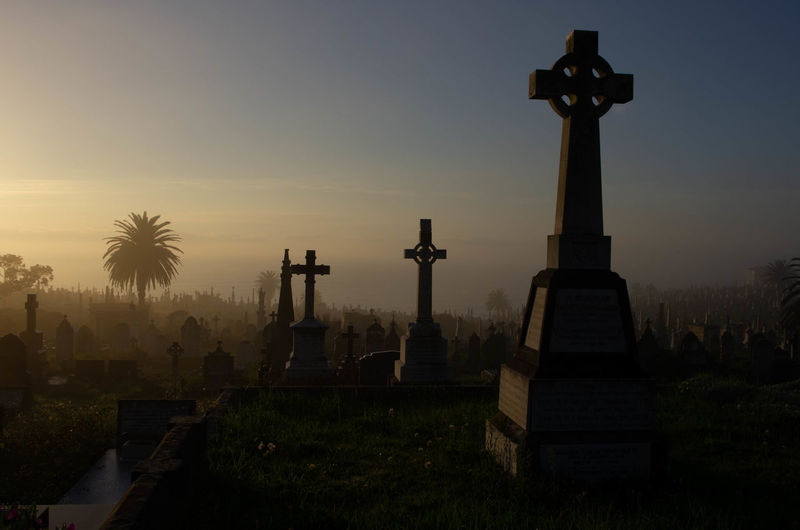 Graveyard Beauty Graveyard Collection Architecture Beauty Belief Built Structure Cemetery Cemeteryscape Cross Grave Light And Shadow Memorial Nature No People Outdoors Place Of Worship Plant Religion Sky Spirituality Stone Sun Sunset Tombstone Tombstones