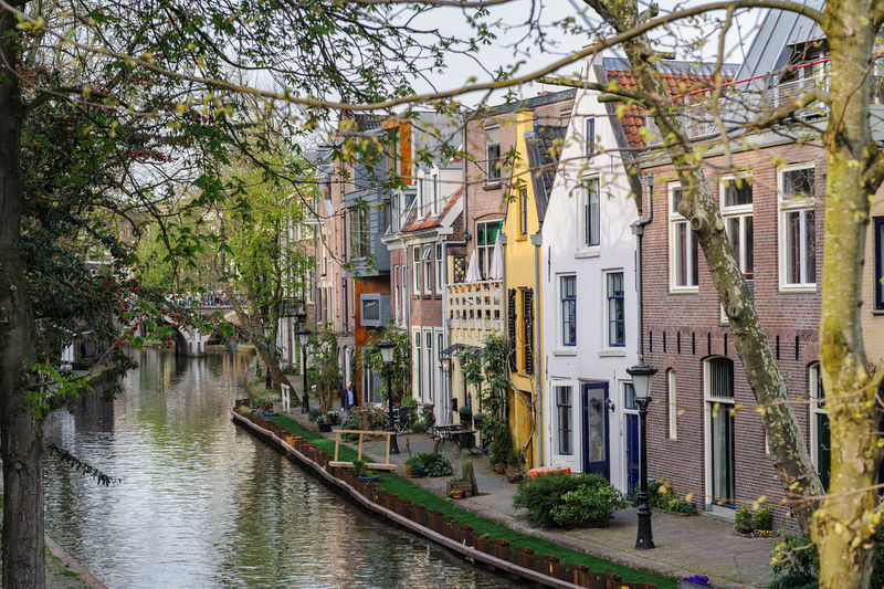 Netherlands Utrecht Utrecht , Netherlands Canal Tree Nature Day City Outdoors Architecture Building Exterior Built Structure Plant Building Water Residential District No People House Transportation Nautical Vessel Travel Destinations Mode Of Transportation