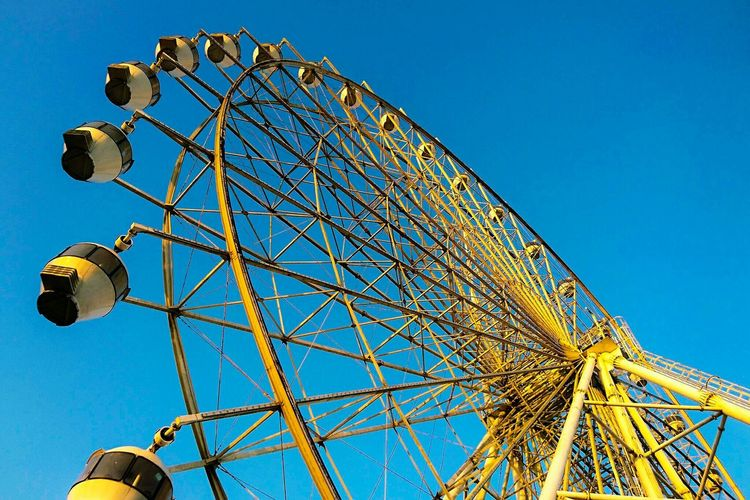 Ferris wheel Ferris Wheel Amusement Park Amusement Park Ride Arts Culture And Entertainment Low Angle View Clear Sky Leisure Activity Big Wheel