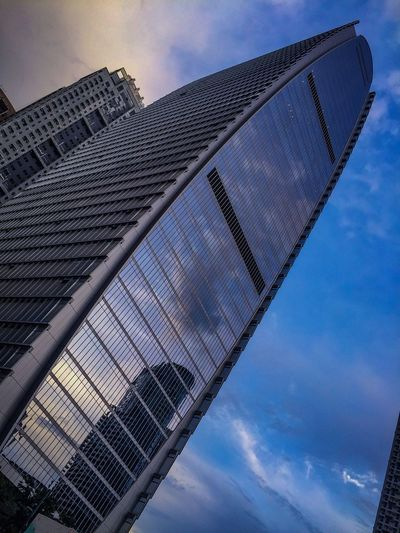 Finance Center Building BGC Built Structure Sky No People Blue Low Angle View Cloud - Sky Architecture Built Structure Building Exterior Pattern Outdoors Building Tall - High Modern Skyscraper