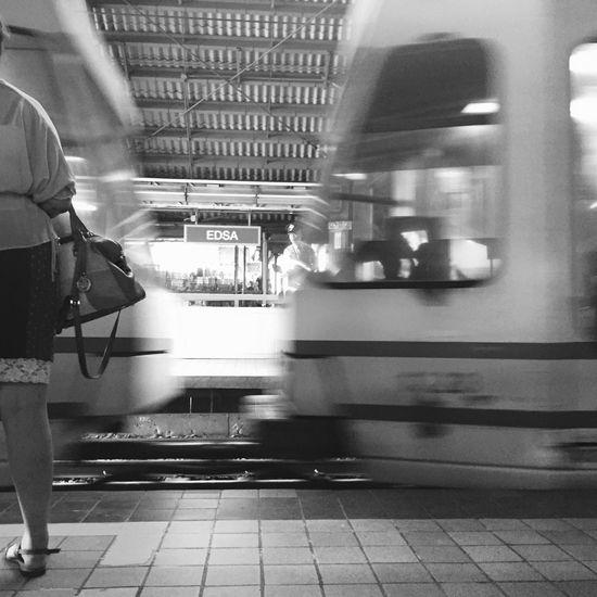LRT - EDSA Station From Where I Stand Blackandwhite Streetphotography Eyeem Philippines The Week On EyeEm
