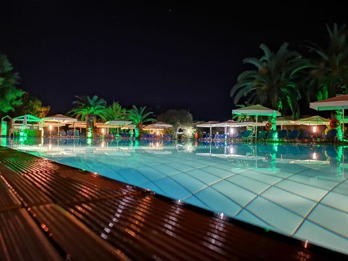 Water Tree Palm Tree Swimming Pool Luxury Hotel Sea Luxury Swimming Tourist Resort Water Slide Sunshade Infinity Pool Poolside Sun Lounger