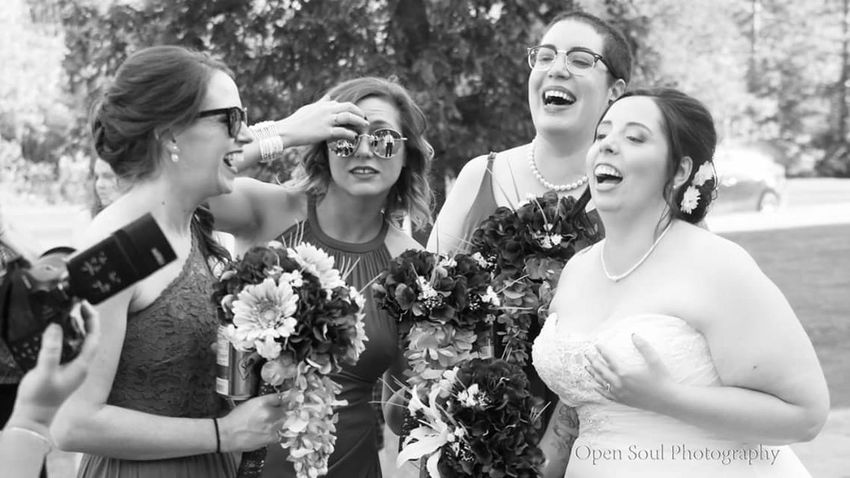 Friendship Young Women Togetherness Fun Wedding Weddingphotography Weddings Around The World Wedding Day Bride Bridesmaids Laughing Laughing Out Loud Smiling Happiness Beautiful Beautiful Day Blackandwhite Blackandwhite Photography Ontario, Canada My Point Of View Moments Open Soul Photography People Photography EyeEm Best Shots