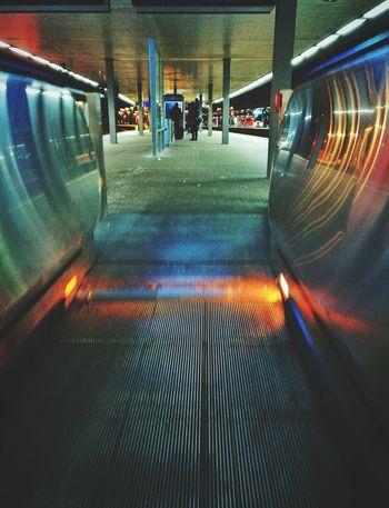Transportation Illuminated Public Transportation Indoors  Large Group Of People Day Train Station