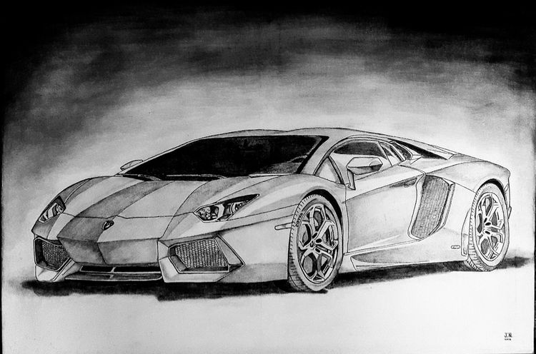 Drew this for a friend on an a1 canvassTwentyfirst Lamborghini Lambo Aventador Sketch Pencil Drawing Graphite Charcoal Happy Birthday! Black And White Car Supercar Peter ArtWork Wheels Dreamcar Vriends Automobile Canvas Awesome Canvas Art A1