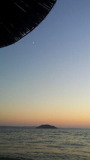 Grecia Greece Summer Sunset Portocarras Moon