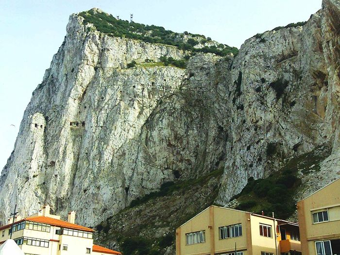 Rock of Gibraltar Gibraltar Rock Gibraltar Views Low Angle View Built Structure Architecture No People Day Building Exterior Outdoors Mountain Sky Nature Rock Rock Formation Rock Climbing Rock Of Gibraltar