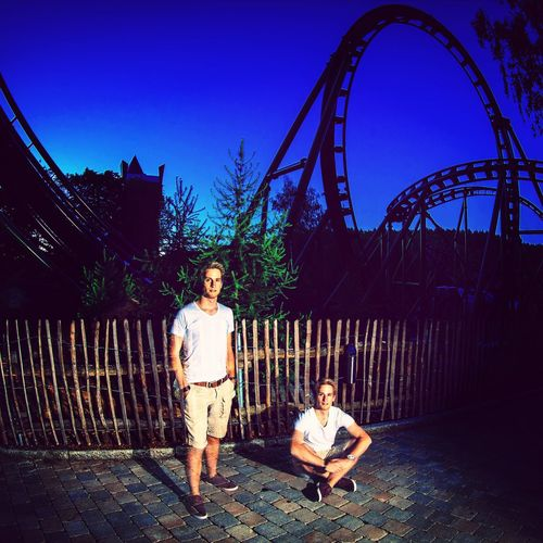 Rollercoaster Night Photosession Park