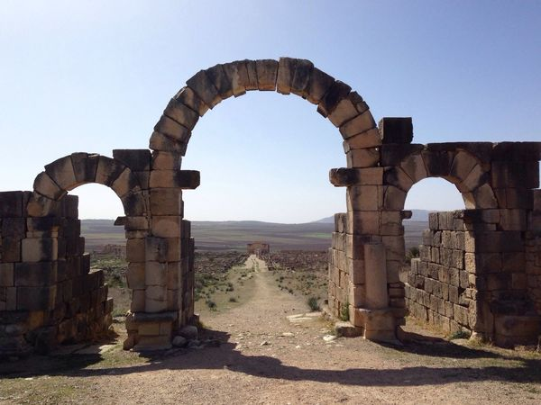the old ruins in Volubilis Morocco Meknès Old City Romans View Arc Historic Traveling First Eyeem Photo EyeEm Best Shots