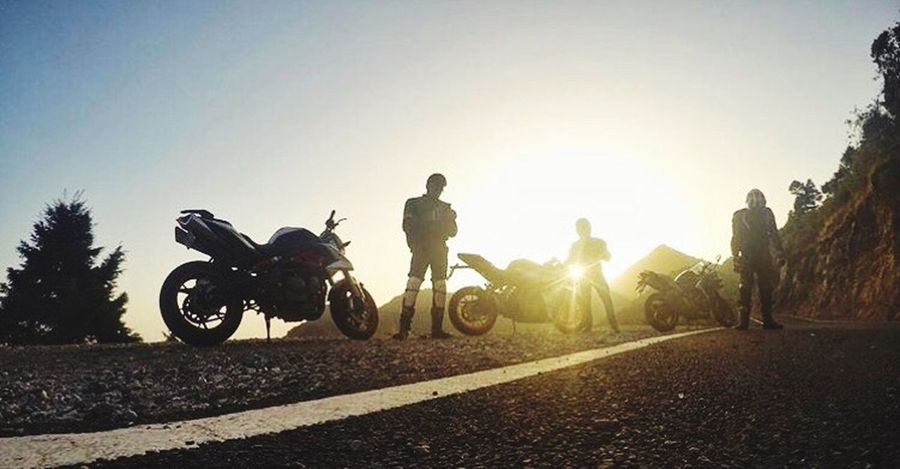 Motorcycle Riding Men Transportation Adventure Clear Sky Sport Sunlight Extreme Sports