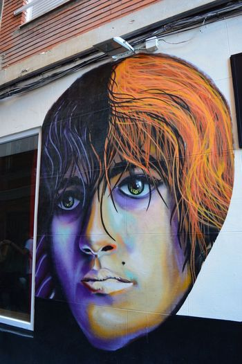 Close-up Young Adult One Person Human Face Indoors  Real People Young Women Portrait Day People Valencia, Spain Street Art Multi Colored Outdoors