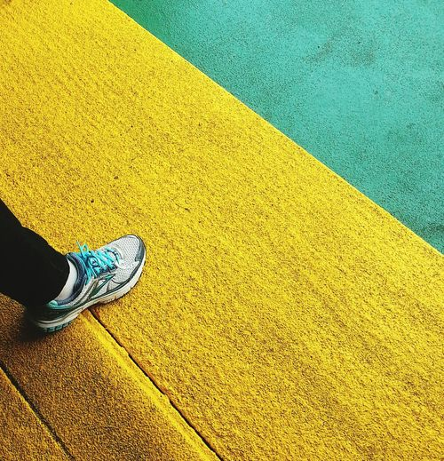 Negative Space Colors Urban Geometry The Best Of New York Hello World Yellow Staten Island Ferry Sneakers Smart Simplicity Pastel Power Step Steps Up Close Street Photography On The Way Colour Of Life The Color Of Sport Enjoy The New Normal Exploring Style