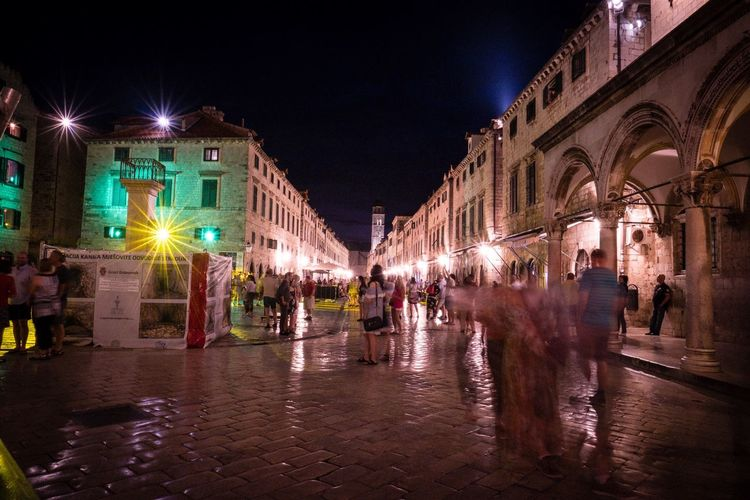 Dubrovnik Dubrovnik Old Town Dubrovnik, Croatia Illuminated Night Building Exterior Architecture Built Structure City Street Lighting Equipment Building