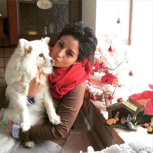 Natale  Selfie Buonnatale da me e Niky 🎀 Spitztedesco spitzbianco