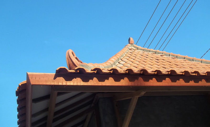 Roof of Javanese House East Java Java Javanese Culture Javanese Tradition Roof Rooftop Architecture Blue Building Exterior Built Structure Clear Sky Day Javanese Javanese Architecture Low Angle View No People Outdoors Roof Roof Tile Roof Tiles Roof Top Roofs Rooftop View  Rooftops Sky