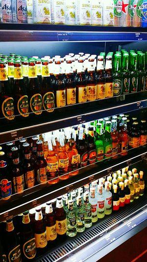 Drink Alcohol Alcohol Bottles Many Taking Photos Asahibeer