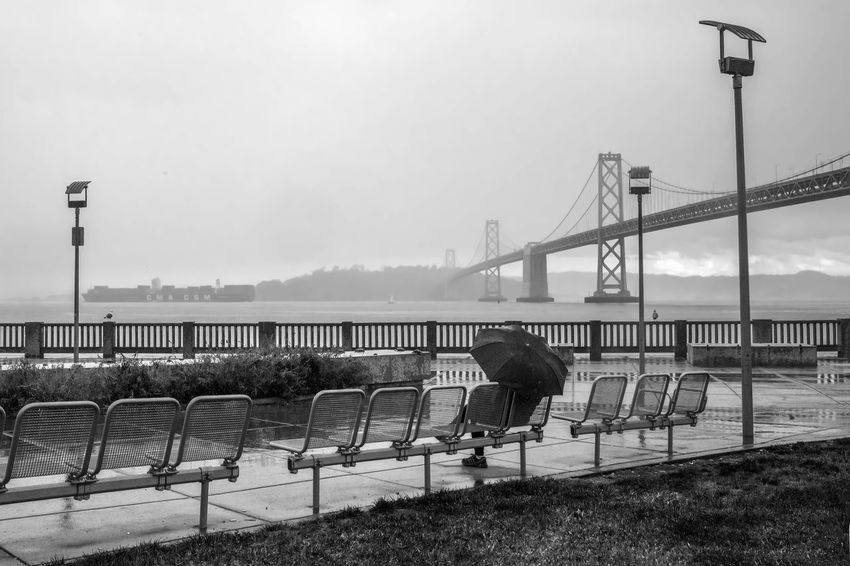 Embarcadero Rain Bridge California Embarcadero People Rain Rainy Day San Francisco Street Photography Streetphoto_bw Streetphotography Weather