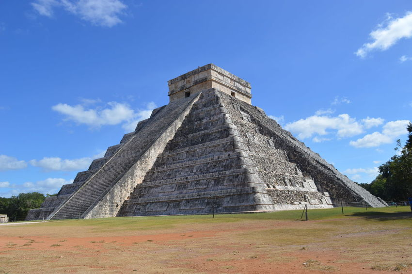Ancient Ancient Civilization Architecture Blue Building Exterior Built Structure Chichen Itza Chichen-Itzá Chichenitza Cloud - Sky Day History Kukulkan Mayan Mayas Mexico No People Old Ruin Place Of Worship Pyramid Religion Sky Tourism Travel Travel Destinations