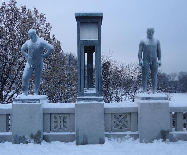 Norway Norway ✌ Norway🇳🇴 Oslo Oslo, Norway Scandinavia Architecture Cold Temperature Human Representation Oslo Norway Oslostreets Outdoors Sculpture Snow Statue Winter