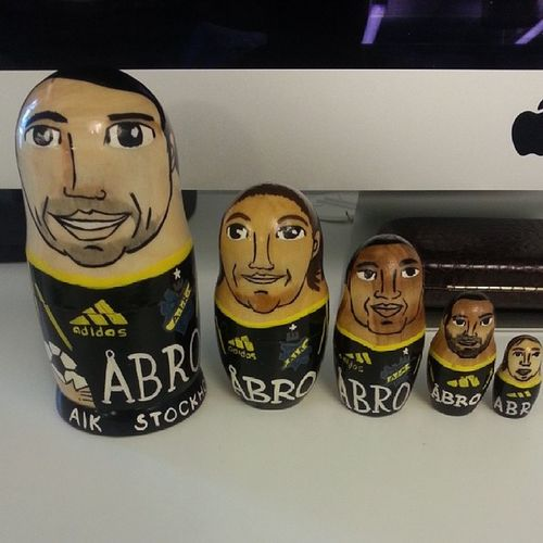 Borges, Lorentzson, Igboananike, Goitom och Johansson. AIK AIKfotboll