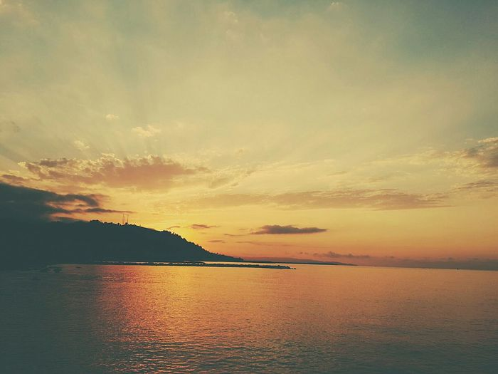 Orangesky Orange Sea Sunshine Swimming Myphotowork MyPhotography ♡ Beach Turkey