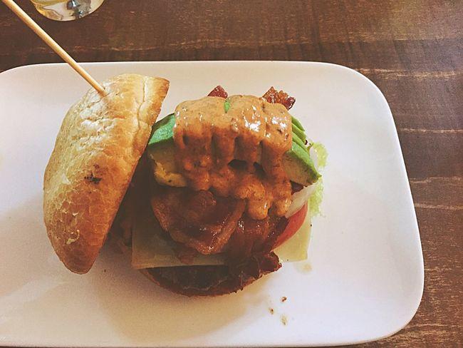 Amazing chipotle burger Foodporn