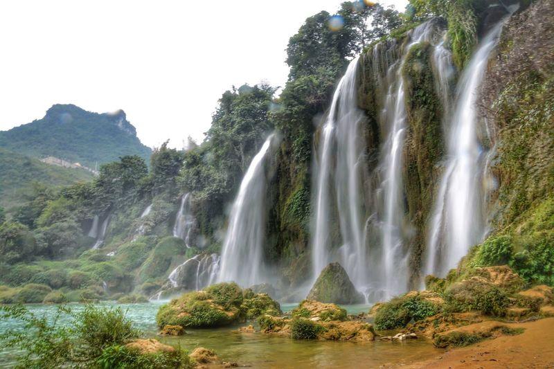 Waterfall Travel Destinations Ban Gioc Waterfall Vietnam Outdoors