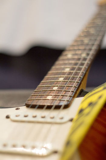 Acoustic Guitar Arts Culture And Entertainment Close-up Day Electric Guitar Fretboard Guitar Indoors  Music Musical Equipment Musical Instrument Musical Instrument String No People Selective Focus String Instrument Woodwind Instrument